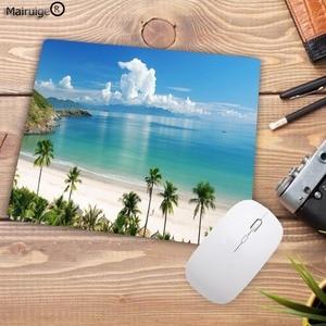 Image 3 - لوحة ماوس كبيرة من Mairuige مطبوعة جديدة على شاطئ النخيل لوحة ماوس لعبة كمبيوتر مكتبي حجم 180X220X2MM لوحة ماوس صغيرة