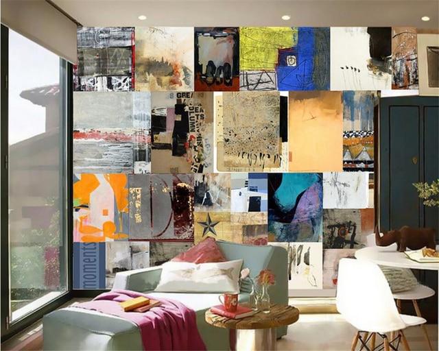 Wallcover Papier Peint beibehang custom 3d photo wallpaper retro abstract wall cover mural