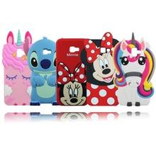 For Samsung J4 Plus Case 3D Unicorn Minnie Cat Soft Rubber Phone Cover