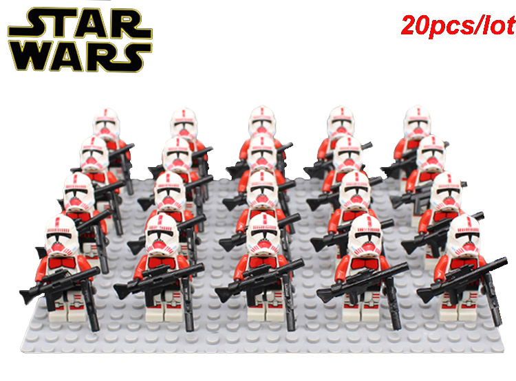 STAR WARS IMPERIAL RED CLONE SHOCK TROOPER 75046 WITH SIX