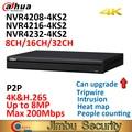 Dahua 4K NVR NVR4208-4KS2 8CH NVR4216-4KS2 16CH NVR4232-4KS2 32CH H.265/H.264 разрешение до 8MP для предварительного просмотра и воспроизведения