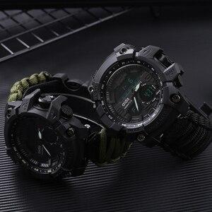 Image 3 - Addies G Shock Mannen Militaire Horloge Met Kompas 3Bar Waterdichte Horloges Digitale Beweging Outdoor Fashion Casual Sport Horloge Mannen