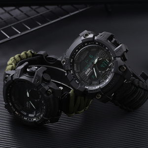 Image 3 - Addies G Shock Mens Military Watch With Compass 3Bar Waterproof Watches Digital Movement outdoor Fashion Casual Sport Watch Men