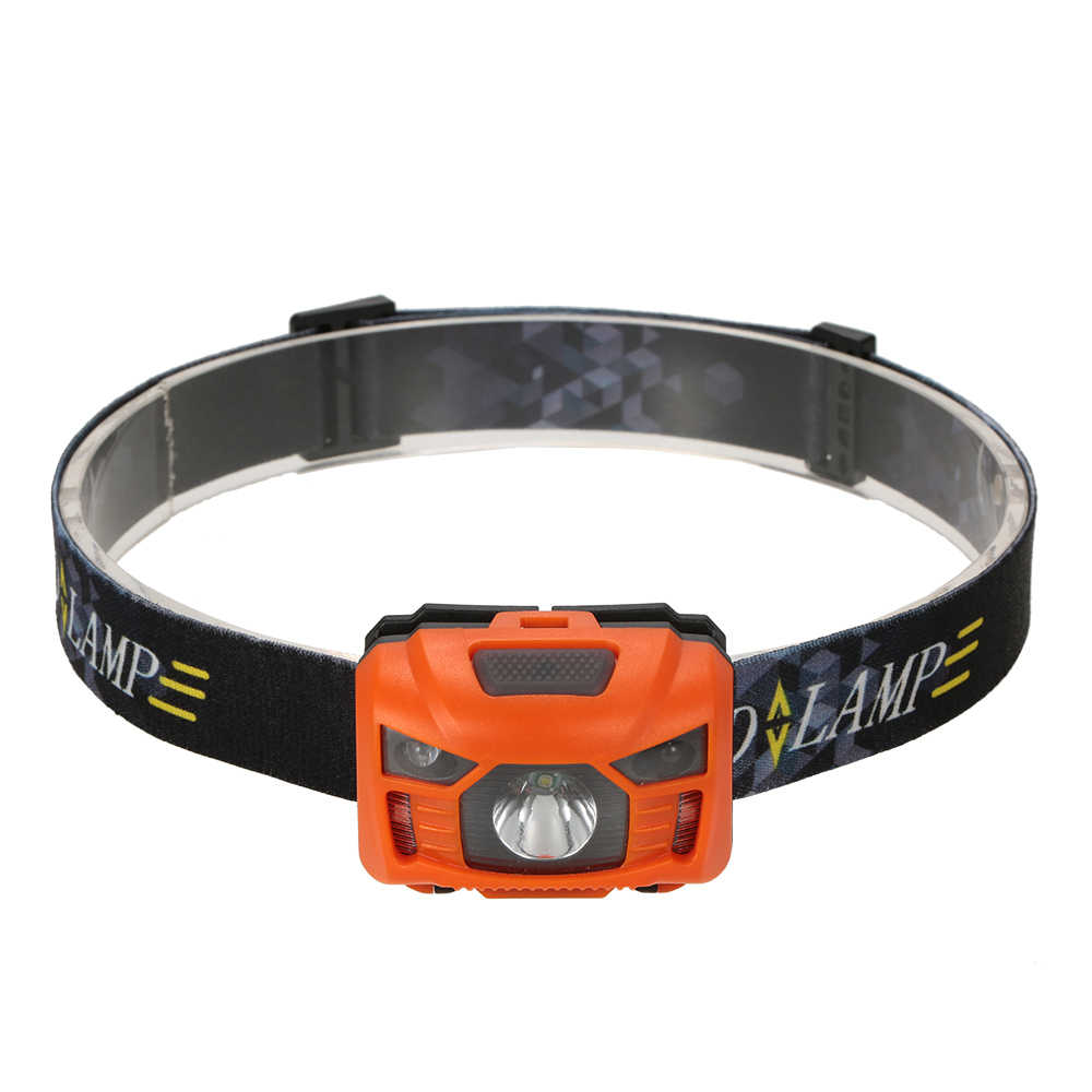 Outdoor Small Tool 350 Lumen LED Inductive Headlamp Mini Headlight Rechargeable Outdoor Camping Flashlight Head Torch Lamp