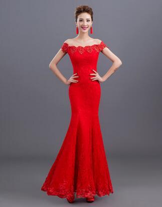 Vestidos de fiesta color rojo y negro