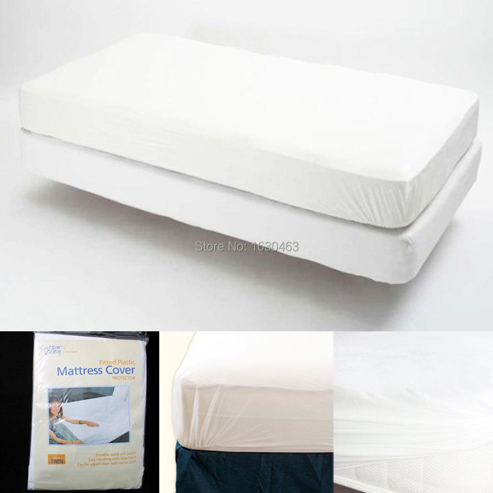 Uk Mattress Size 150x200cm Smooth Waterproof Protector Cover For Bed Wetting And Bug