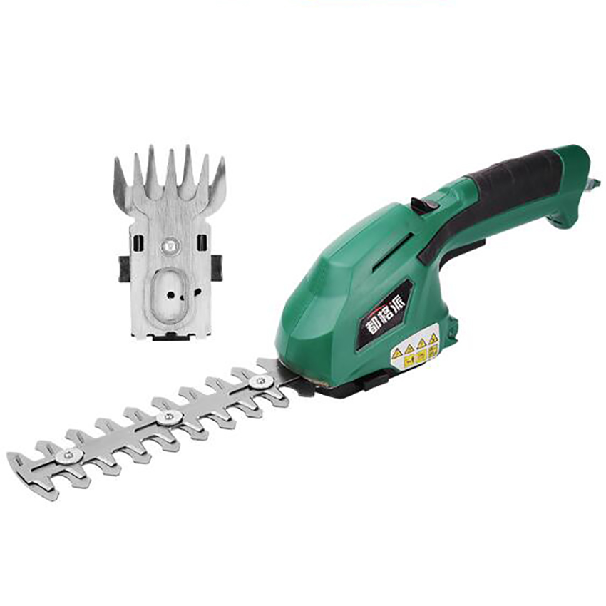 2 in 1 Multi-Function Grass Shear Cordless Lithium-ion Rechargeable Shrub Shear Grass Trimmer Shears For Lawn Mower Garden Tools