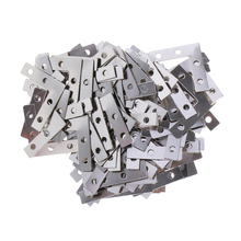 100pcs Heavy Duty Metal L Shape Corner Brace Plate 90 Angle Bracket Photos Frame Picture Bracket 38mmx38mm Furniture Accesories