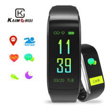 купить Fitness Bracelet KR02 IP68 Waterproof GPS Smart Band Heart Rate Monitor Watch Activity Tracker for Xiao Mi Android IOS Phone по цене 1675.03 рублей