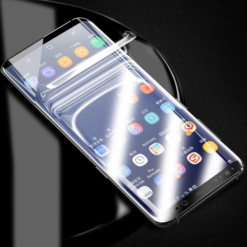 Protector de pantalla de cubierta completa 3D HD PET película suave para Samsung galaxy s8 Note8 S7 Edge S8 S9 Plus S10 plus película protectora de lista