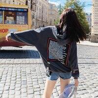 Hip hopfemale wool fleece jacket of new fund of 2018 autumn winters hoodie in the streets