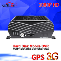 1080P AHD 3G Mobile DVR, H.264 4CH Real time ,GPS Track ,I/O,G sensor,Vehicle DVR,support iPhone,Android Phone Free shipping