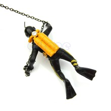 Treasure Hunter Diver Action Figure Fish Tank