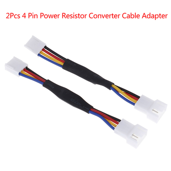 2* 4Pin Fan Noise Reduction Deceleration Line Resistor Cable For PC Cooling Fan