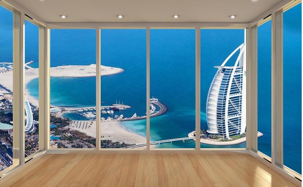 Vloer Voor Balkon : Wallpaper d stereoscopische dubai yacht hotel vloer balkon tv