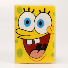SpongeBob sponge baby foreign trade passport covers a number of functional documents to protect the PVC waterproof document sets