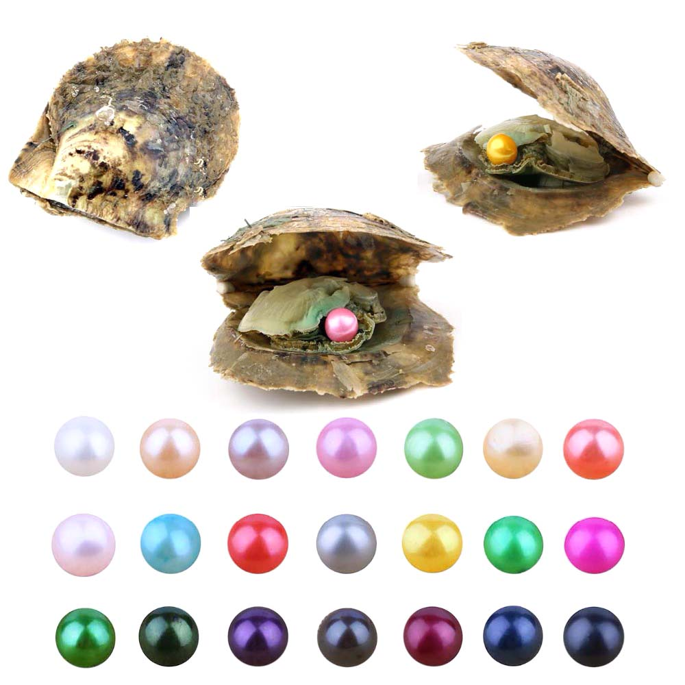 все цены на 20 PCS Akoya Pearl Oyster Cultured Love Wish Pearl Oysters with 7-8 mm Round Pearls Inside Birthday Gifts (Random Color) онлайн