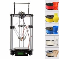 USA Shipping Geeetech Delta Rostock G2s 2 Dual Extruders Auto Level 3D Printer Self Assembly