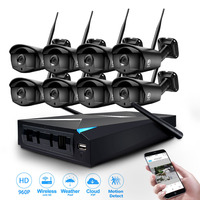JOOAN 8CH CCTV System Wireless 960P NVR 8PCS 1 3MP IR Outdoor P2P Wifi IP Security
