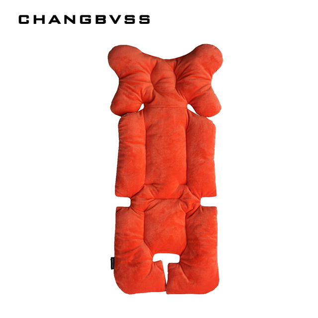 Thick Dining Chair Car Seat Stroller Cushion Mat Seat Padding Baby Pram Liner Pad Head Body Support Pad Kids Chair Protection