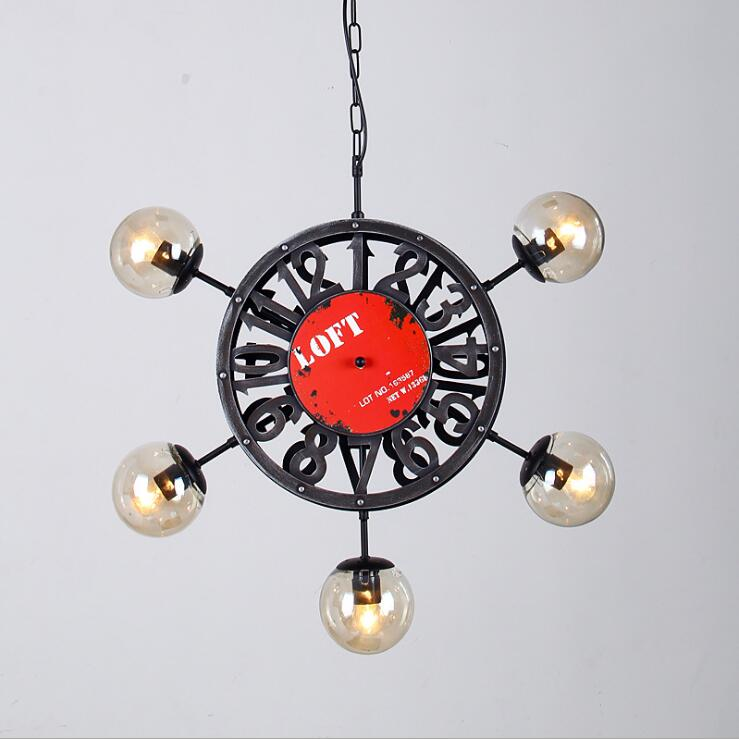 American style clock chandelier living room restaurant clothing store personality rudder industrial wind magic beans chandelier, vintage clothing store personalized art chandelier chandelier edison the heavenly maids scatter blossoms tiny cages
