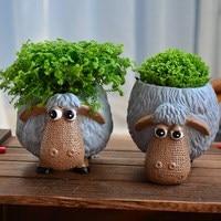 Office Decoration Flower Pots Planter Cute Cartoon Animation Multi Fancy Flower Pots Creative Personality Ceramic Flower