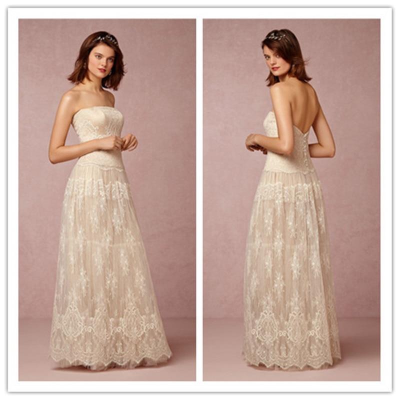 MANSA Vestido De Novia Vintage Lace Beach Wedding Dress 2015 Sexy ...