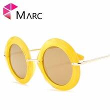 MARC UV400 WOMEN fashion Big Round sunglasses Driving Red Green Gradient