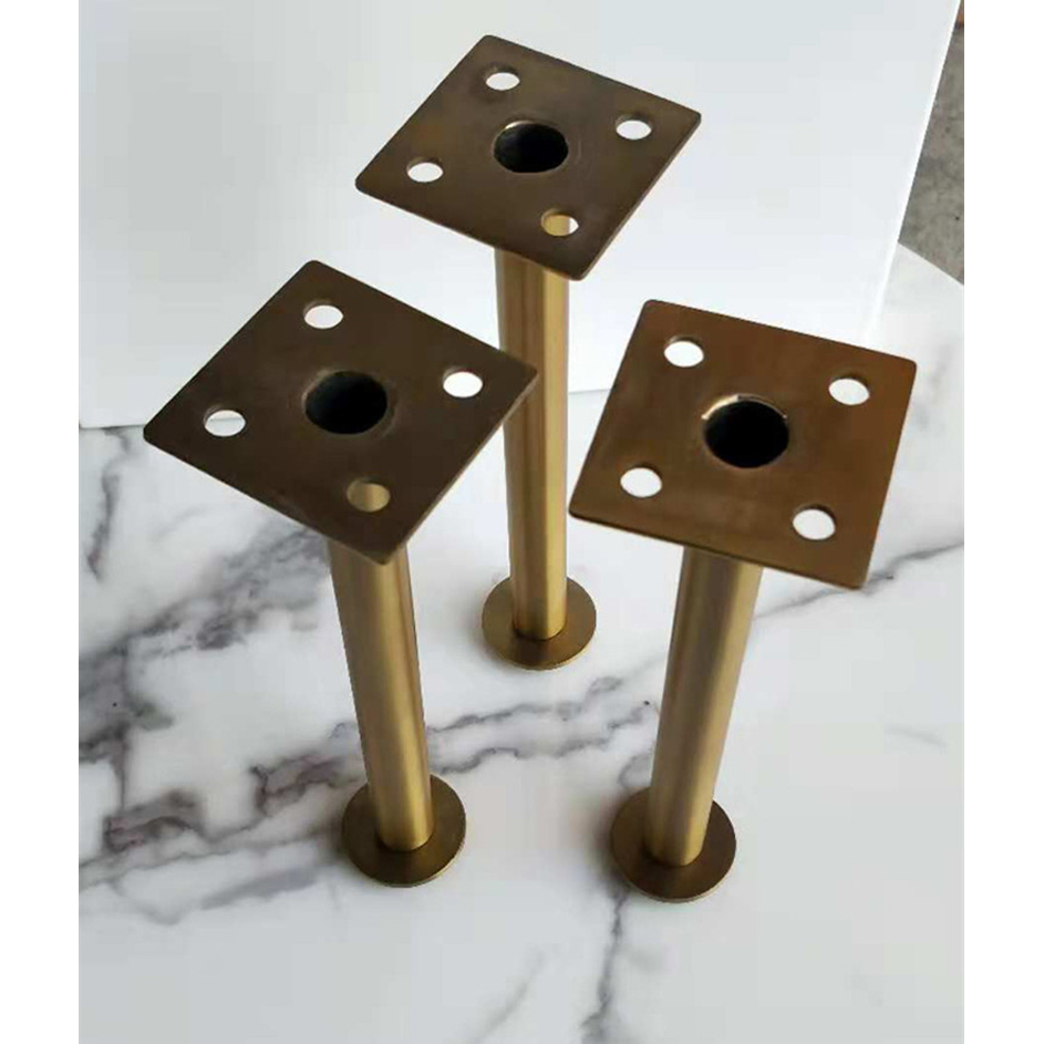 Image 5 - 4Pcs 60*160mm 60*210mm Gold bronze Furniture Cabinet Cupboard Adjustable Metal Legs Table feet   Verified Lab Test Supports-in Furniture Legs from Furniture
