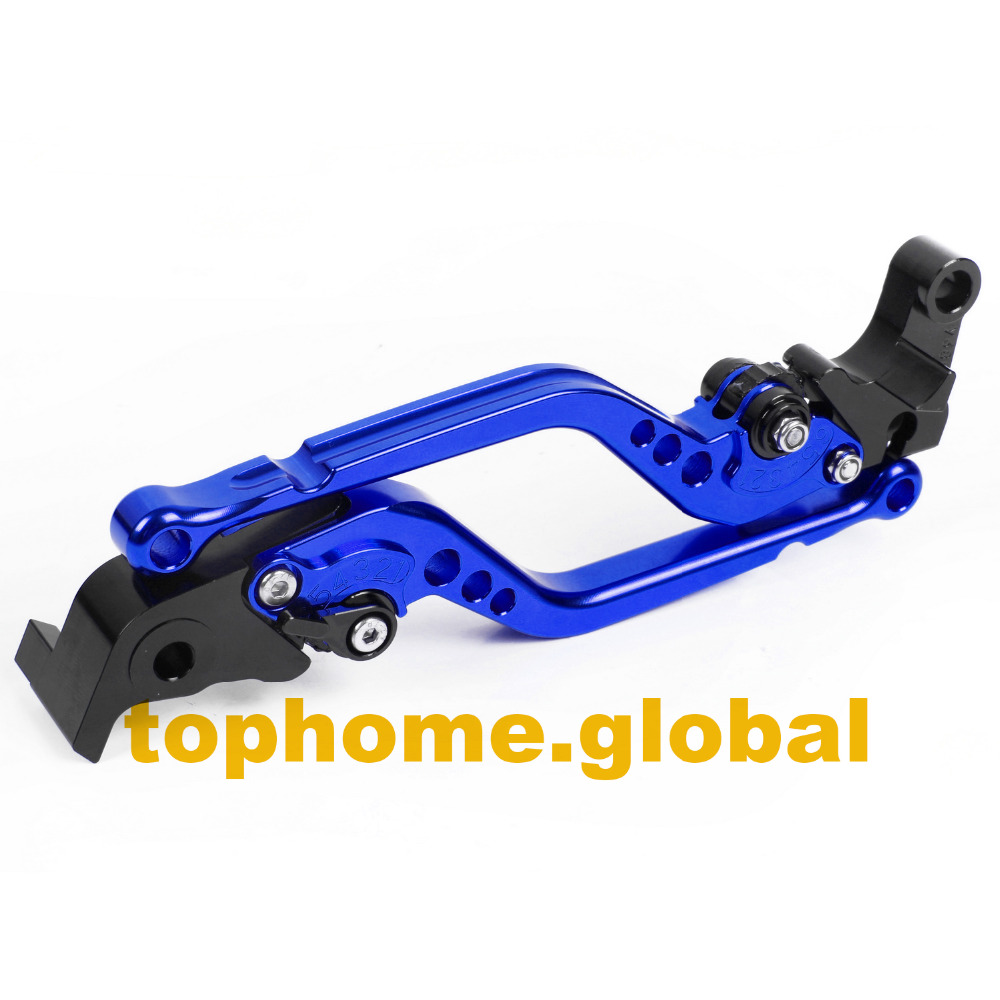 For <font><b>Yamaha</b></font> <font><b>Tmax</b></font> 500 <font><b>2001</b></font> - 2007 Long Brake Clutch levers CNC Blue 2002 2003 2004 2005 2006 image