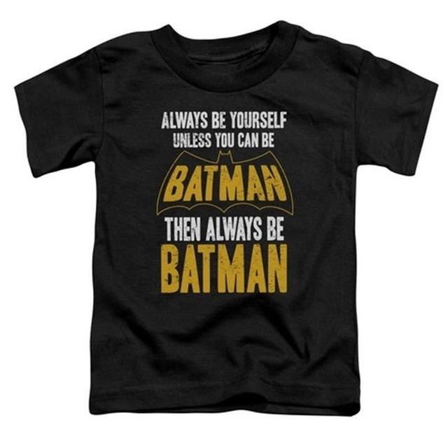 Trevco Batman-Be Batman – Short Sleeve Toddler Tee – Black Small 2T