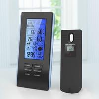 Wireless Backlight Thermo Hygrometer Rain Glass Barometer Weather Station Clock Humidometer Temperature Gauge
