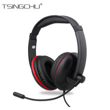 10PCS Wired 5 in 1 Stereo Gaming Headphone For PS4 PS3 XBOX ONE Surrounded Over-Ear Gaming Headset With Light For PC XBOX 360