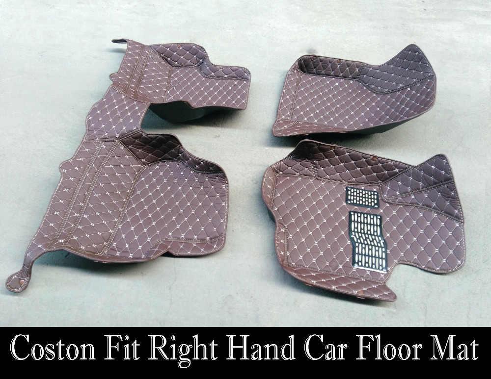 Ajuste personalizado tapetes do carro da movimentação da mão direita para Mazda 2 3 5 6 8 9 CX-5 CX-7 MX-5 Atenza carro-styling