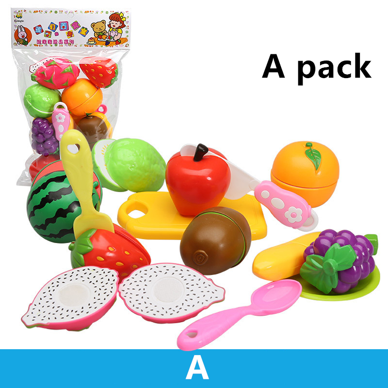 5 Style Pretend Play Kids Kitchen Toys for Children Educational Toys for Kids Plastic Fruit Safety Classic Toys