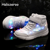 Autumn Spring Children Glowing Sport Sneakers Kid Led Shoes Baby Girl High Top Casual Sneakers Boy Lighted Shoes Toddler Trainer