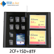 2017 Silver Red New Aluminum Storage Box Bag Memory Card Case Holder Wallet Large Capacity For 2* For Sd Cf 8*microsd Card1*sd(China)