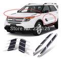Dongzhen adesivos 2 pcs 1 par de saída de ar do carro saída de ar lateral capô ornamento acessórios do carro para FORD EXPLORER