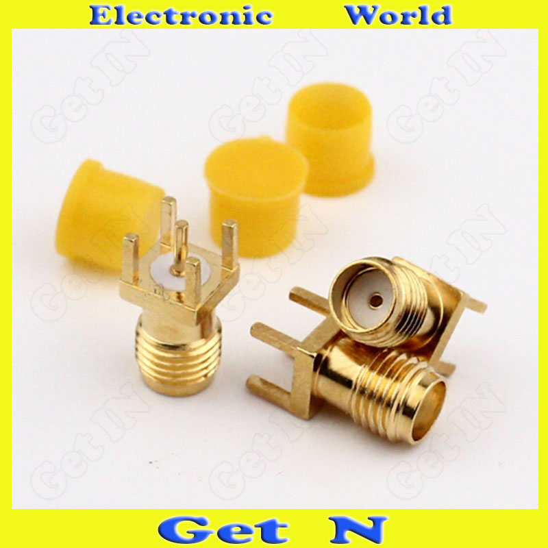 20pcs-200pcs SMA-KE SMA Connector Receptacle Socket with Outside Screw Thread SMA Jack 4-Pin Weld-On Fit for PCB Panel Gilt SMA 10pcs lot 4p 3 5mm female audio stereo jack with switch socket pcb mounting 3 5mm screw nut connector pj 399