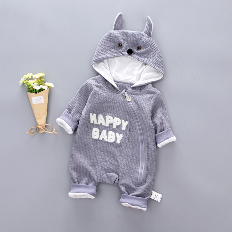 Cute Cartoon Baby   Rompers   Cotton winter infant toddler jumpsuits boy girl Animal newborn baby clothes Baby costume Sets
