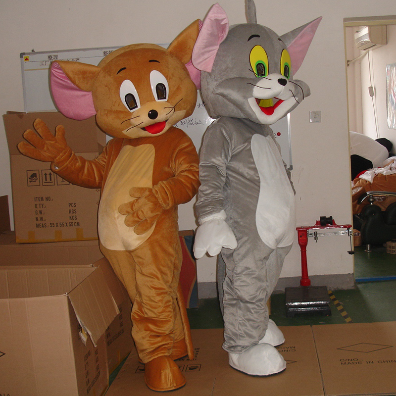 Tom Cat And Jerry Mouse Mascot  Costume Cosplay Fancy Holloween Costume For Adult Cosplay