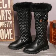 -30 градусов PU Зимние теплый плюш обувь мода детская Толстая обувь девочек высокие зимние сапоги ботинки Martin для детей Аксессуары