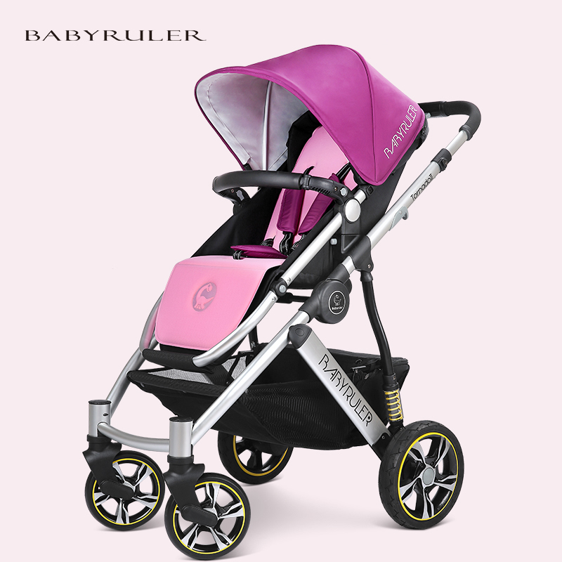 Baby stroller light folding baby child cart shock absorbers four wheel four seasons general baby stroller babyruler ultra light portable four wheel shock absorbers child summer folding umbrella cart