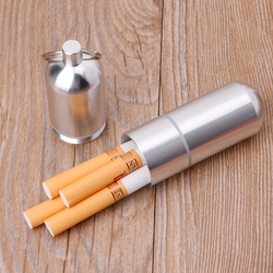 Nowy przenośny Mini aluminiowy papierośnica brelok wodoodporny stojak na wykałaczki