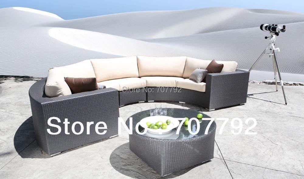 hot sale chorus round sectional wicker patio furniture sofa set