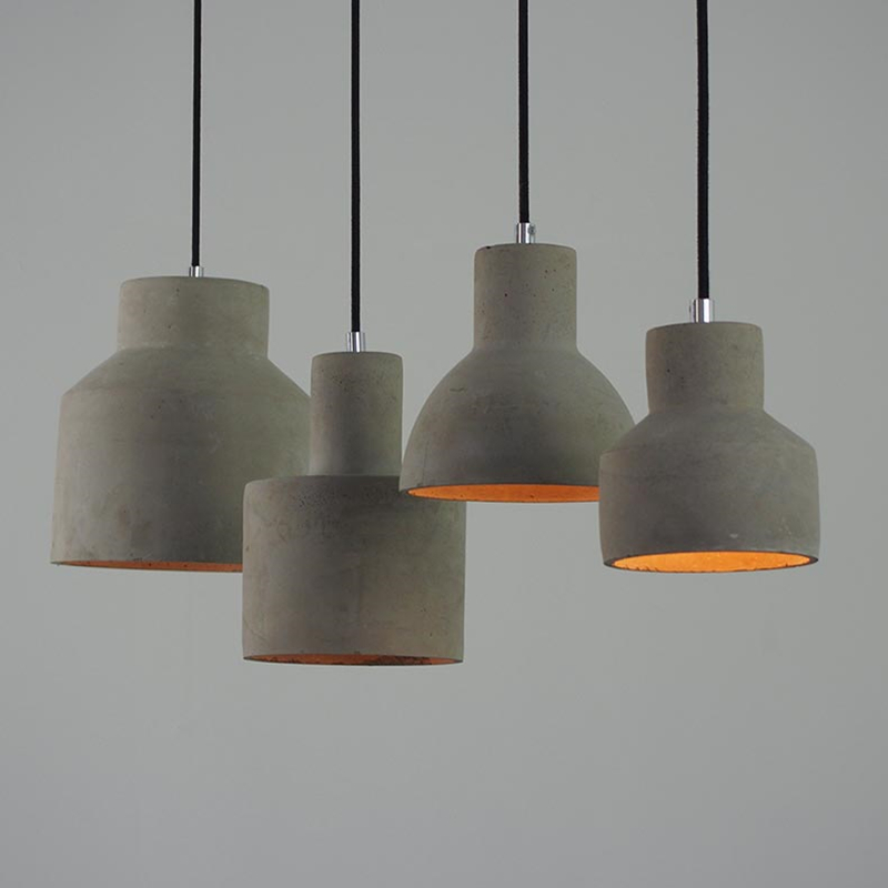 Modern Pendant Lamp Cement American Country Vintage Lights Fixture For  Decoration Dinning Room Aisle Restaurant Kitchen Lights  In Pendant Lights  From ...