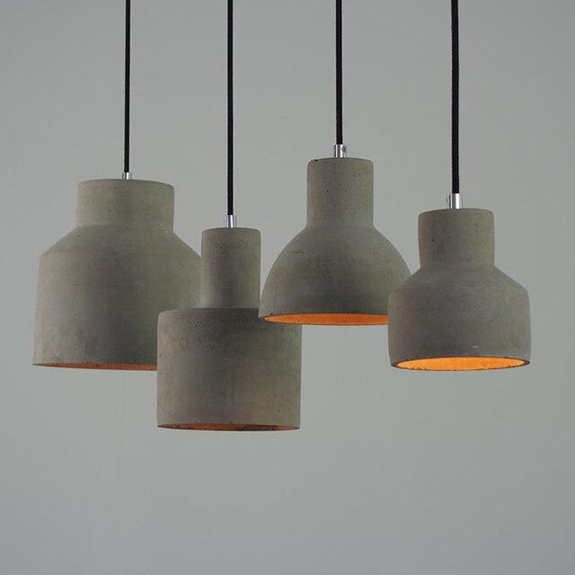 Moderne Anhänger Lampe Zement Amerikanischen Land Vintage Lichter Leuchte für Dekoration Esszimmer Gang Restaurant Küche Lichter in Moderne ...