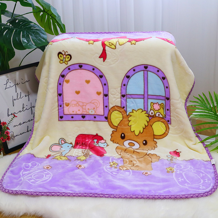 Double-layer Baby Swaddling Blanket Child Sleeping Carpet Baby Crib Bedding Wrapping Quilt Flannel Newborn Fleece Blanket 0~5Y