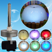 Atomizer mushroom LED fountain pump submersible pump fish pond pool fountain pump for garden Led Light Color change fogger