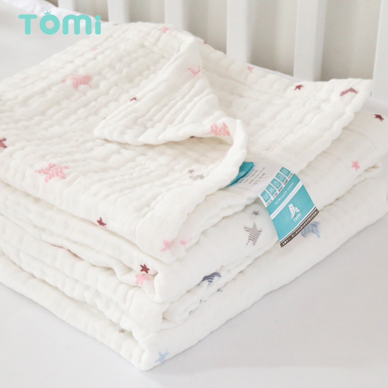 Baby Muslin Swaddles Envelope for Newborns Baby Blankets 105*120cm Cotton Gauze Infant Linens Hold Wraps